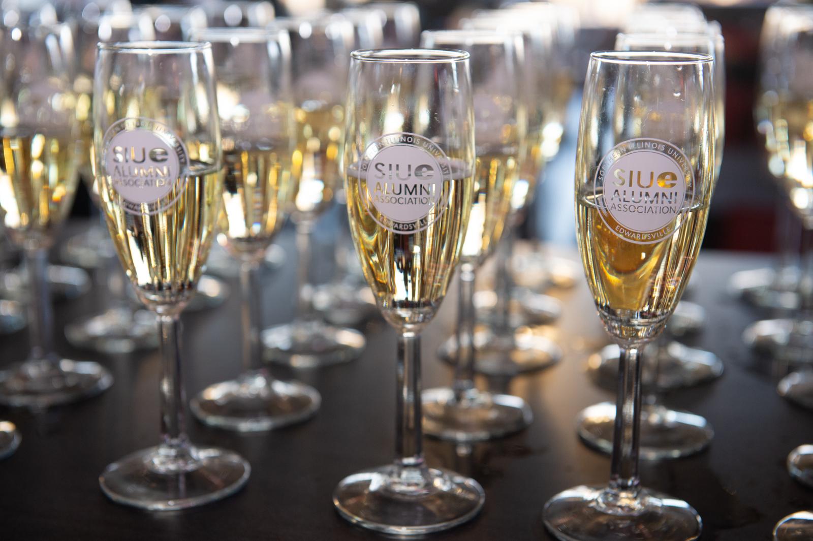 Senior Campaign Photo of Champagne Glasses